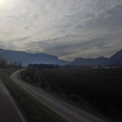 Rennradtour Gfrill: Radweg bei Auer