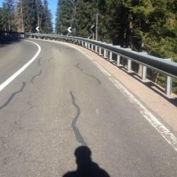 Rennradtour Passo Lavaze - Passo Pramadiccio - Passo Costalunga: Finale Lavazepass