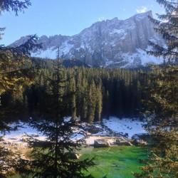 Rennradtour Passo Lavaze - Passo Pramadiccio - Passo Costalunga: Karersee