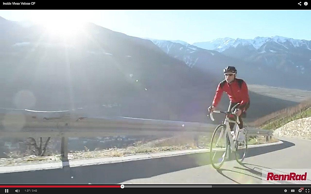 Video Vivax Veloce CF Rennrad mit Elektromotor