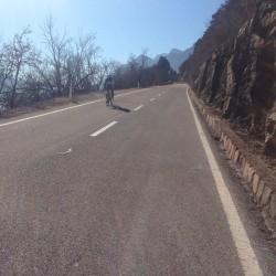 Mendel Winterfahrt / Rennradfahrer