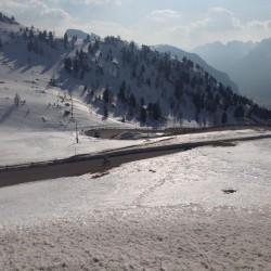Winter Sellaronda: Abfahrt Pordoi
