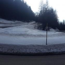 Winter Sellaronda: Haarnadelkurve