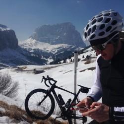 Winter Sellaronda: Rennrad Posing