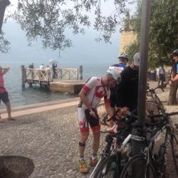 Rennradtour Bozen - Malcesine / Glückliche Gruppe