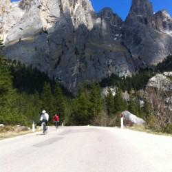 Triathlon Camp Südtirol / Auffahrt Pordoipass