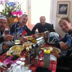 Triathlon Camp Südtirol / Mittagsrast