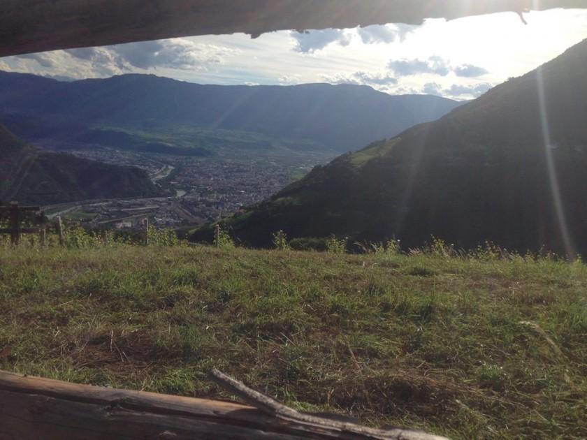 Rennradtour Oberbozen / Blick auf Bozen