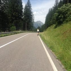 Rennradtour Penserjoch / Radfahrer