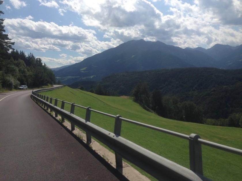 Rennradtour Rodenecker Alm / Abfahrt Brixen