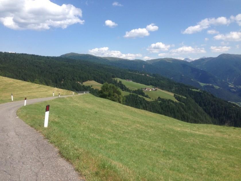 Rennradtour Rodenecker Alm / Abfahrt Lüsen