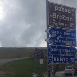 Rennradtour Passo Brocon / 1616m