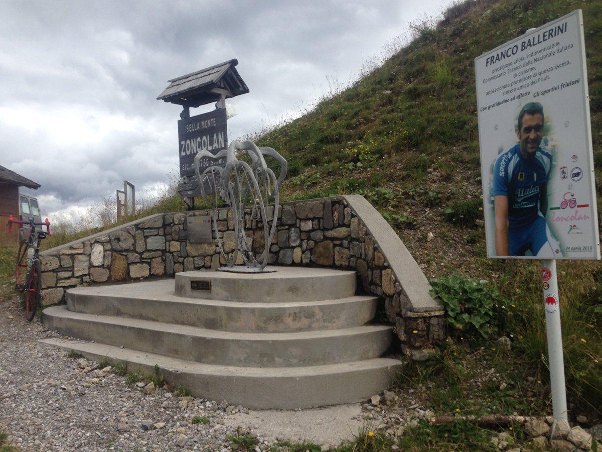 Rennradtour Monte Zoncolan / Passhöhe