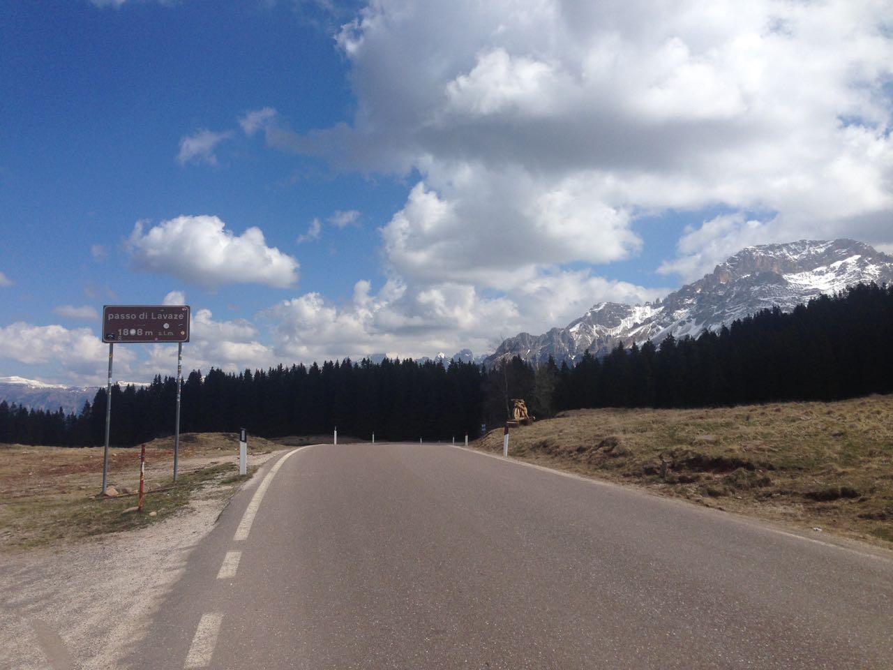 Rennradtour Lugano - Lavaze: Dolomiten Aussicht