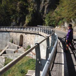 Rennradtour Passo Praderadego - Passo San Boldo / Abfahrt San Boldo