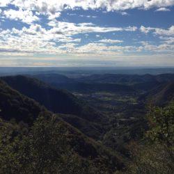 Rennradtour Passo Praderadego - Passo San Boldo / Aussicht nach Süden