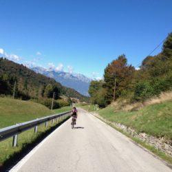 Rennradtour Passo Praderadego - Passo San Boldo / Dolomiten Herbst