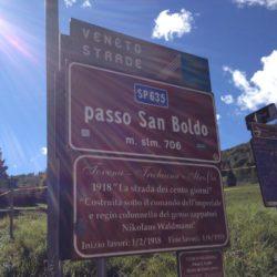Rennradtour Passo Praderadego - Passo San Boldo / Passhöhe San Boldo (706m)