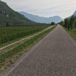 Steile Rennradrunde Südtiroler Unterland: Etschtal Radweg