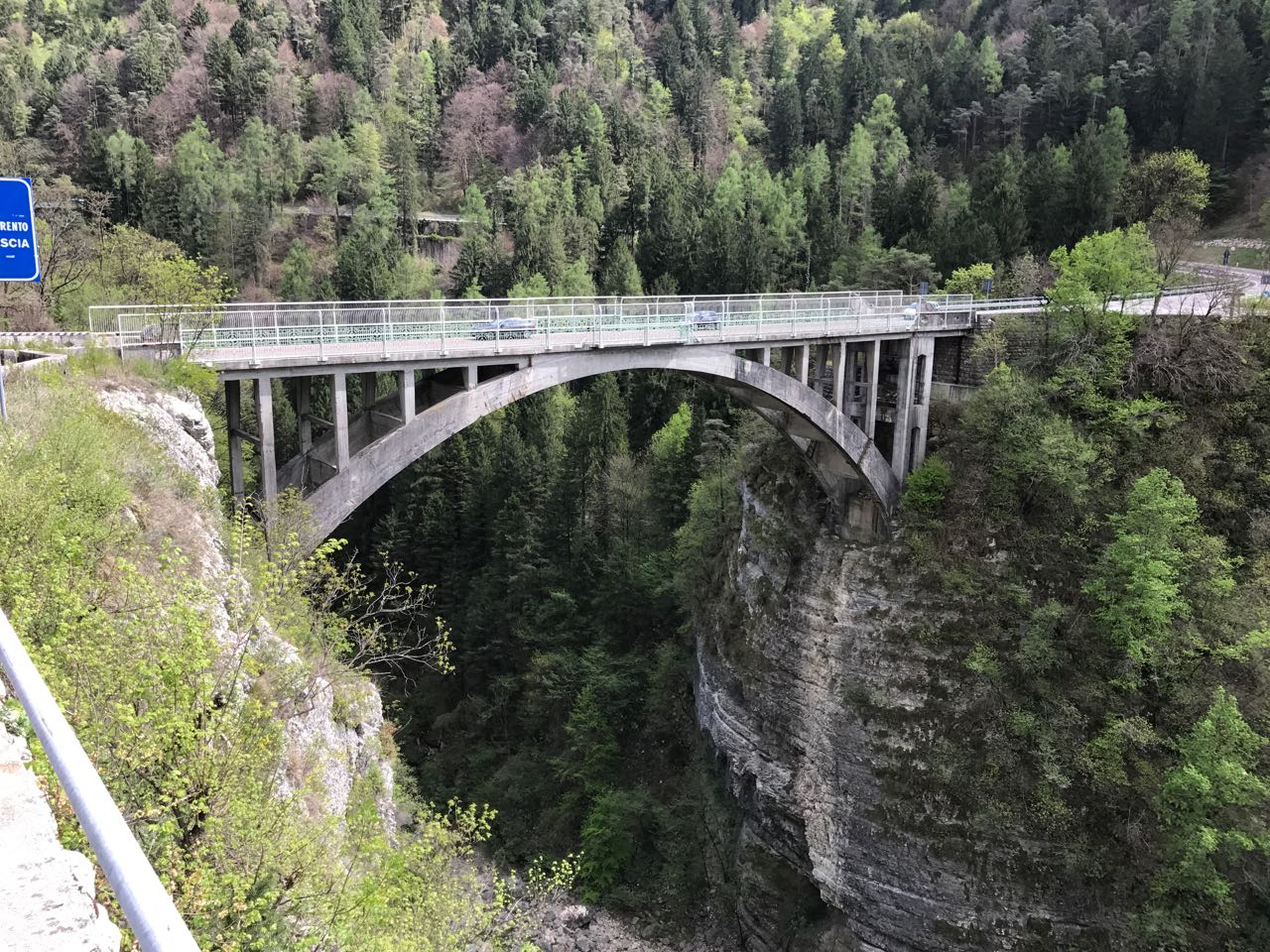 Rennradtour Trentino: Sarche Brücke
