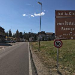 Rennradrunde Sellajoch - Karerpass: Passo Campolongo