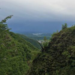 Rennradtour Passo San Boldo - Passo Praderadego / Aussicht Süden