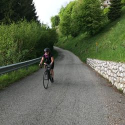 Rennradtour Passo San Boldo - Passo Praderadego / Steilstück geschafft