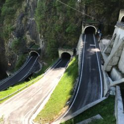 Rennradtour Passo San Boldo - Passo Praderadego / Tunnels