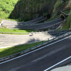 Rennradtour Passo San Boldo - Passo Praderadego / Tunnels Totale