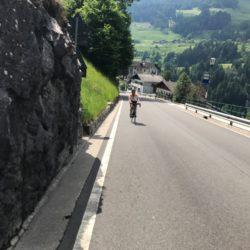 Rennradtour Passo Rombo / Erste Steigung