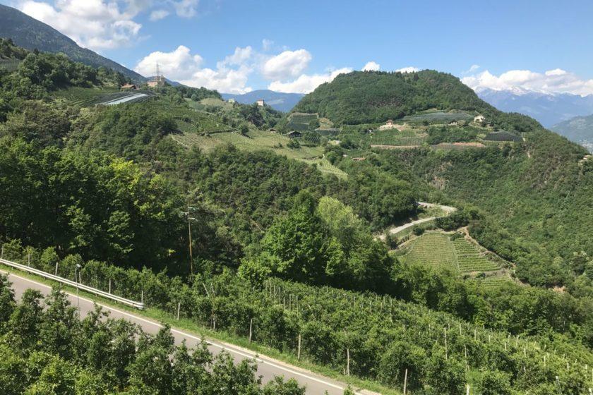Rennradtour Meran / Aussicht auf Prissian