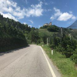 Rennradtour Meran / Anstieg Prissian