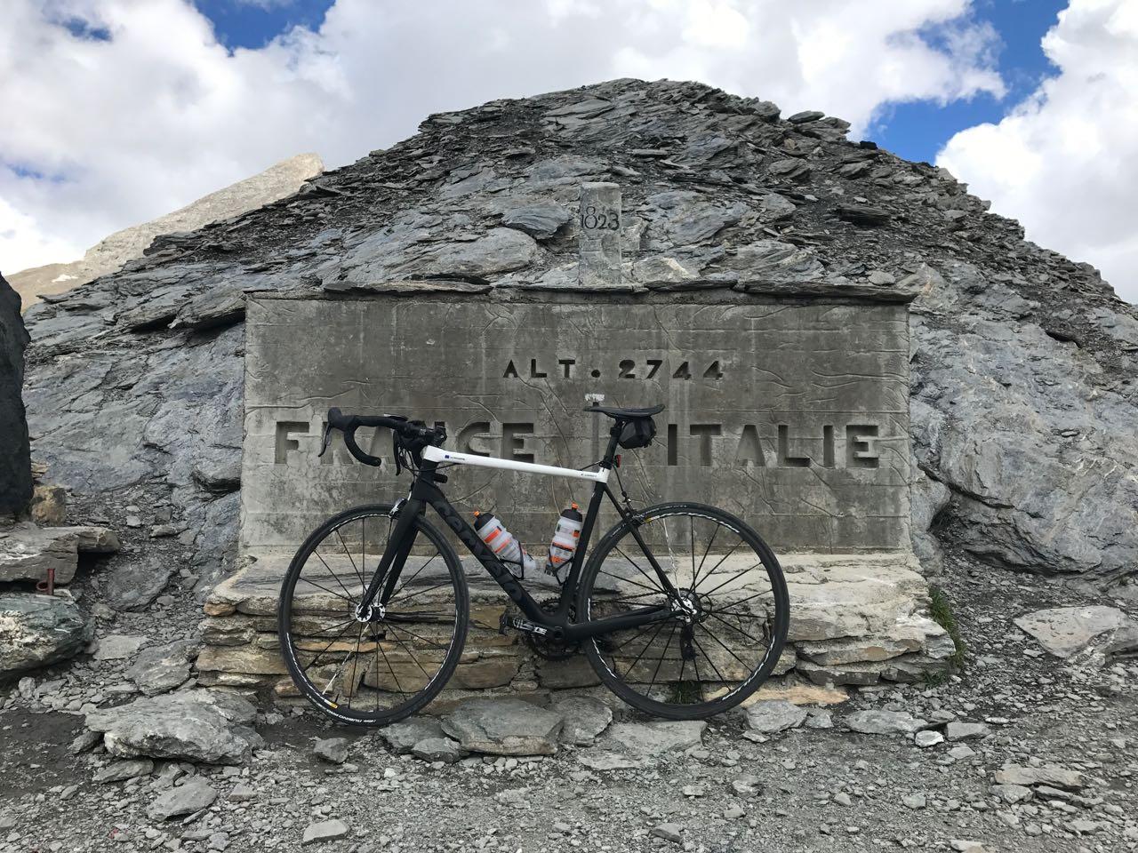 Rennradtour Sanremo - Bolzano: Colle dell'Agnello (2744m)