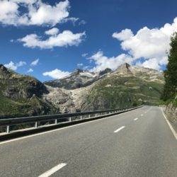 Rennradtour Sanremo - Bolzano: Aletschgletscher