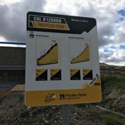 Rennradtour Sanremo - Bolzano: Infotafel Izoard