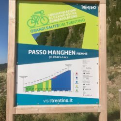Rennradtour Manghenpass - Lavazepass / Infotafel Passo Manghen